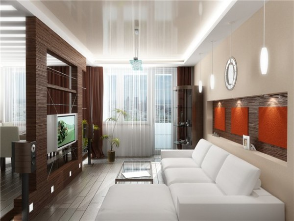 простое оформление гостиной
