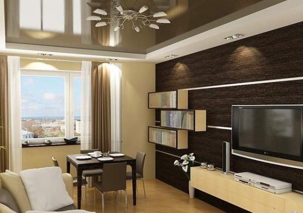 дизайн гостиной вытянутой формы