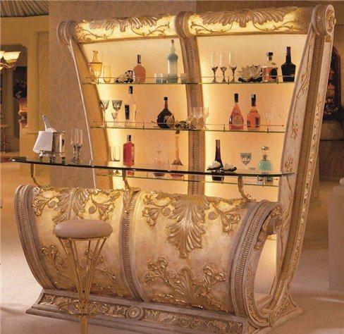барный шкаф в интерьере