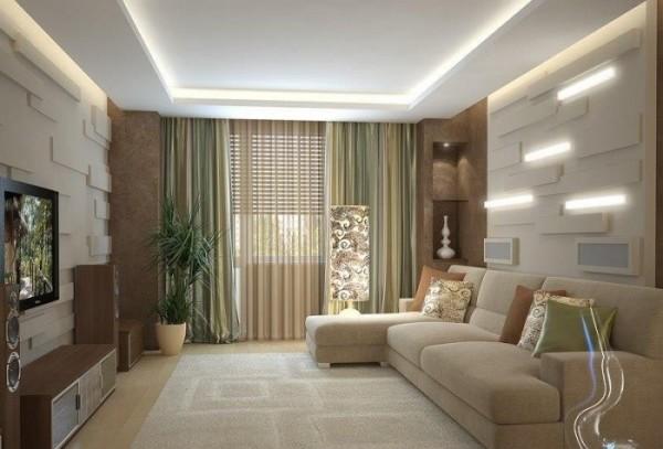 дизайн квадратной гостиной