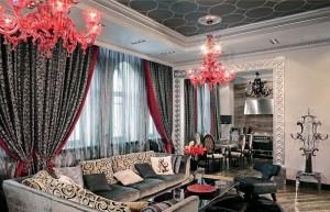 гостиная в роскошном стиле