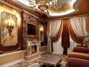шторы для шикарной гостиной