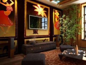 гостиная в этническом стиле
