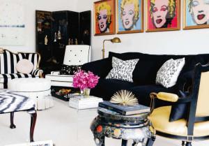 гостиная в стиле поп-арт