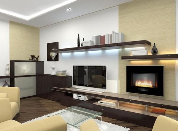 вариант дизайна гостиной