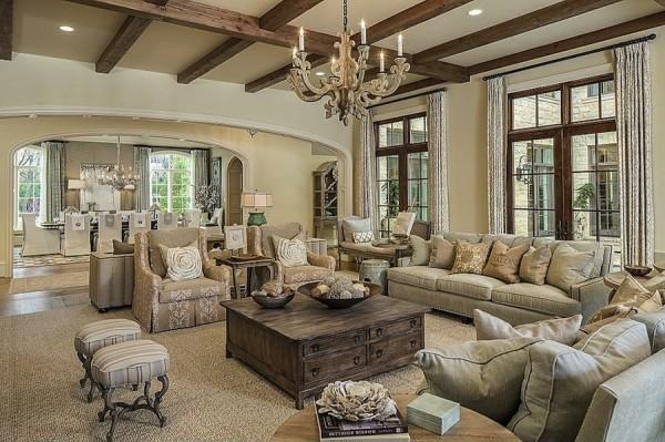 красивая гостиная прованс