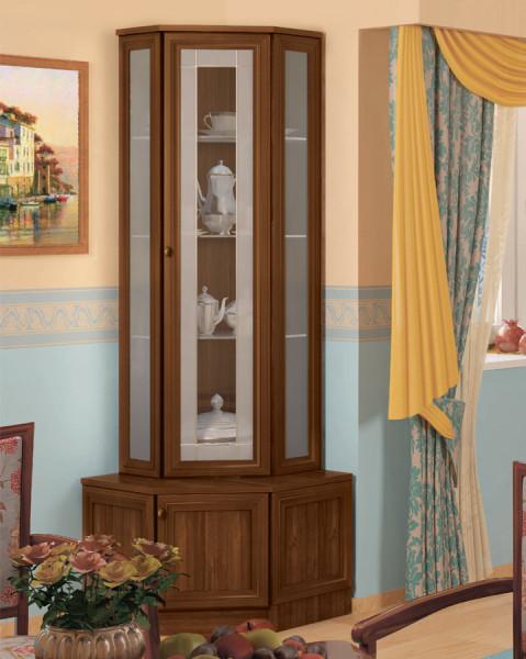 угловой шкаф в гостиной