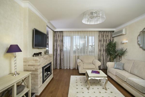 красивая гостиная в квартире
