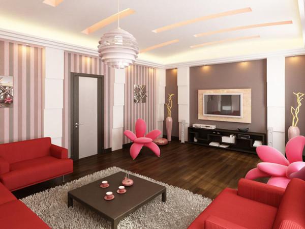 дизайн и интерьер гостиной