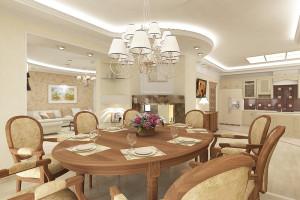 гостиная столовая