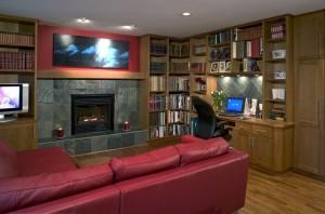 Дизайн интерьера гостиной-кабинета