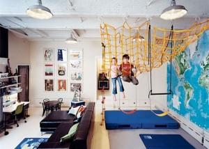 Интерьер и дизайн гостиной совмещенной с детской