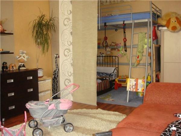 дизайн детской в гостиной
