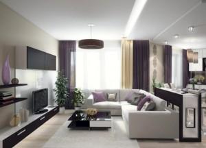 мебель в студийной гостиной