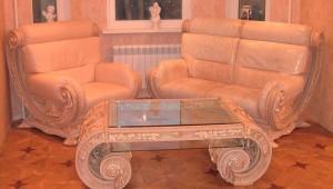 элитная мебель в гостиной