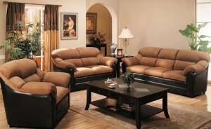 Дизайн интерьера гостиной с двумя диванами