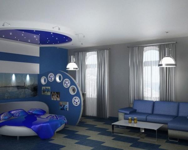 оформление гостиной совмещенной с детской